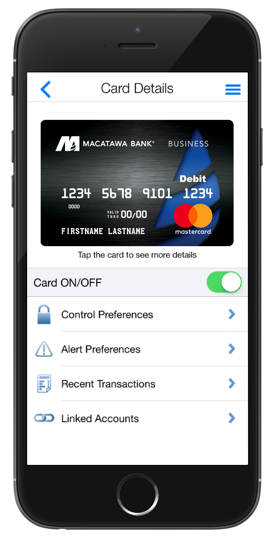 Debit Card on Phone App