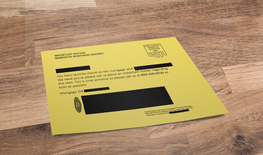 fraudulent letter