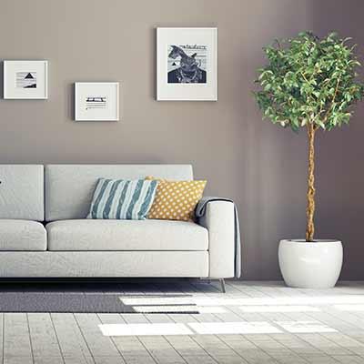 Clean neutral livingroom